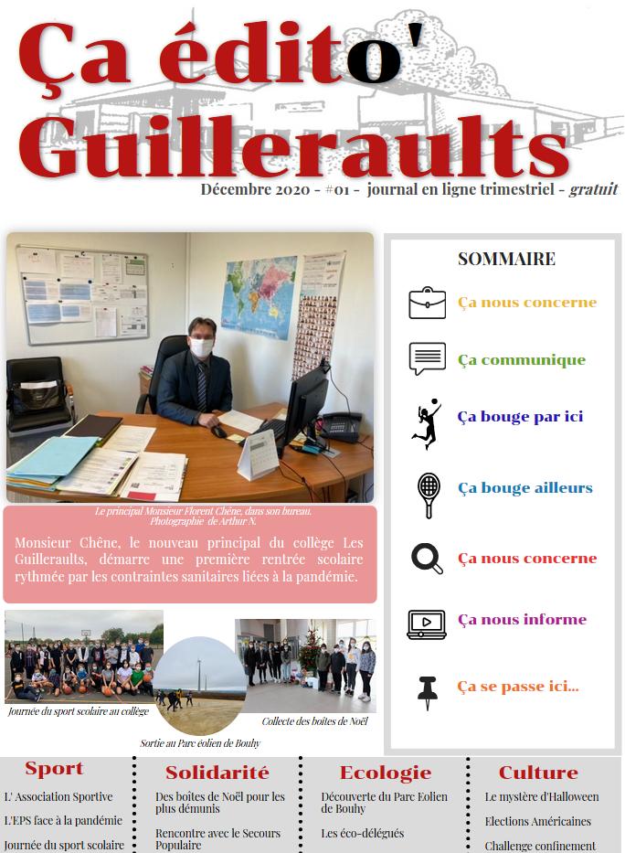 "Une du journal ""Ça édito' Guilleraults"" #01"